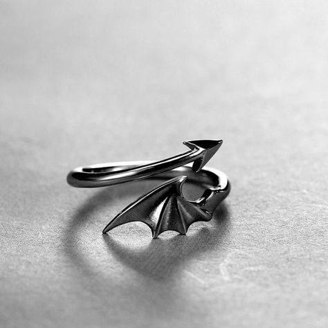 COOL Dragon Devil Tail Arrows Zodiac Rings. #necklaces #jewelry #earrings #accessories #fashion #bracelets #necklace #rings #handmade #handmadejewelry