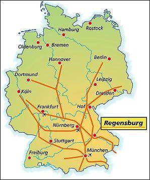 deutschland karte regensburg Pin by Magda Jones on places | Deutschland, Map, Post