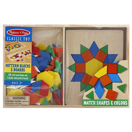 Melissa Doug Pattern Blocks And Boards Pattern Blocks Pattern