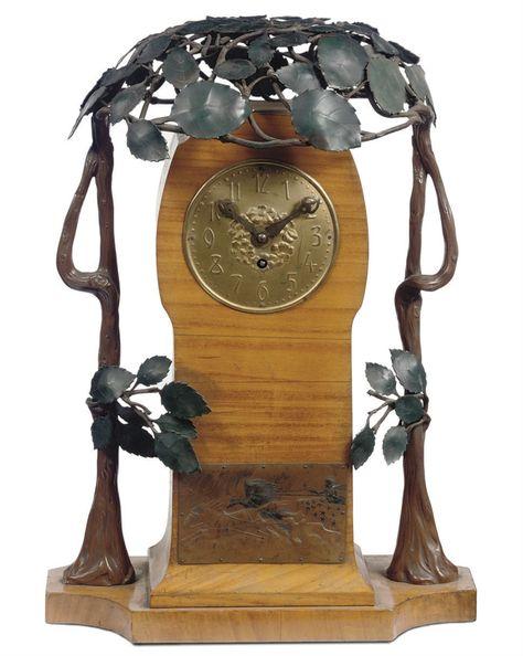 Vintage Tischuhr Art Nouveau Jugendstil Dame Frauenskulptur Uhr wie anno 1900