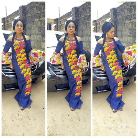 Jean Gown With Ankara Patches Top 15 Styles Jeans Gown Jeans