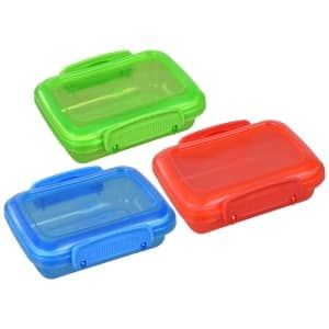 Plastic Snack Containers With Lock Top Lids 3 Ct Bonus Packs Snack Containers Plastic Container Storage Crayon Storage