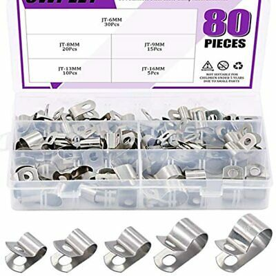 Sponsored Ebay 80pcs 304 Stainless Steel 6mm 16mm Vinyl Coated Cable Clamps Assortment Kit For In 2020 Clamps Metal Products Stainless Steel Cable