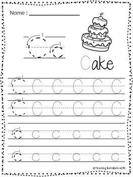 Free Abc Tracing Worksheets Alphabet A Z Upper And Lower Case