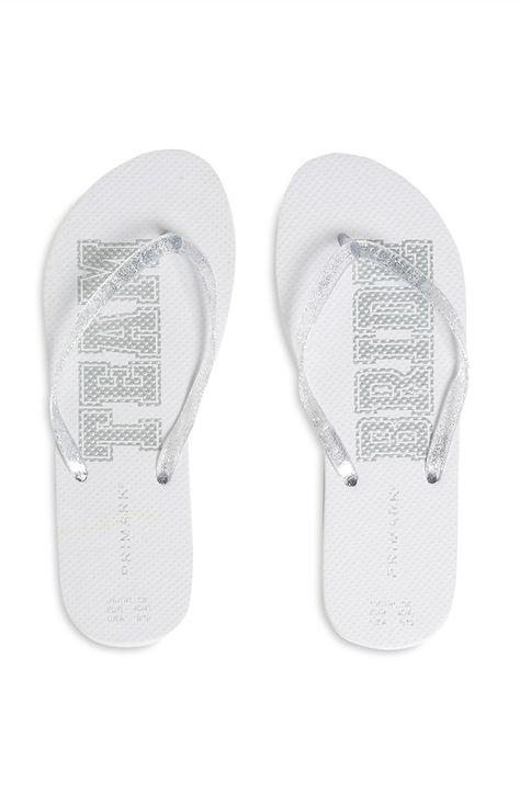 Bride flip flops, Primark