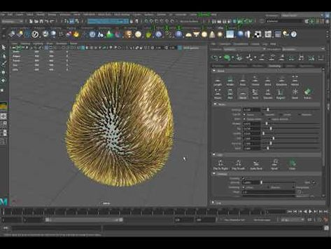Vray and Xgen fur with different colored hair - YouTube | MAYA