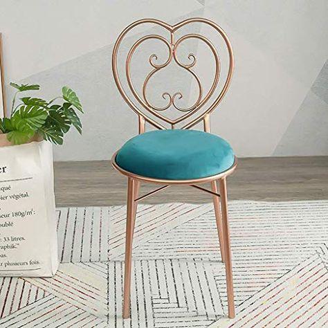 Pleasing Wonlon Golden Bar Chair With Love Backrest Nordic Mental Creativecarmelina Interior Chair Design Creativecarmelinacom