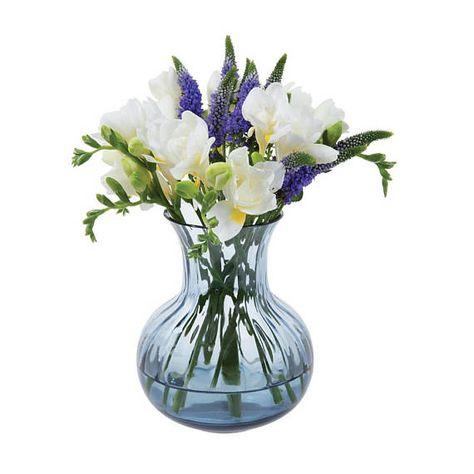 Vintage Dartington Glass Vase Uk Crystal Glassware Smoke Ink Blue 7 Flower Vase Late 20th Century Decorative Homeware Original Gift Box With Images Crystal Glassware Glass Vase Glass