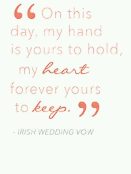 Super Wedding Vows Simple Short Ideas Irish Wedding Vows Wedding Vows Wedding Vows Examples