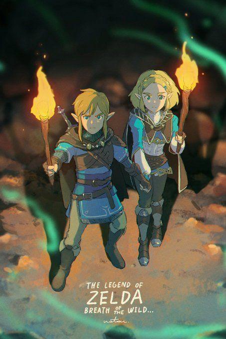 Breath Of The Wild 2 Link And Zelda Fanart Legend Of Zelda