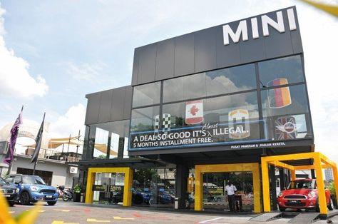 Ingress MINI showroom is located at Jalan Maarof, Bangsar