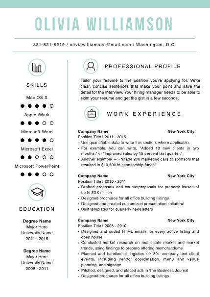 Professional Resume Template With Free Cover By Resumegallery