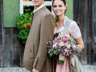 Trachtenhochzeit Rustikale Eleganz Brautpaar in Tracht