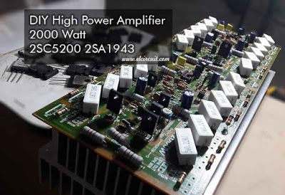 DIY 2000W High Power Amplifier 2SC5200 2SA1943 | Ampli in