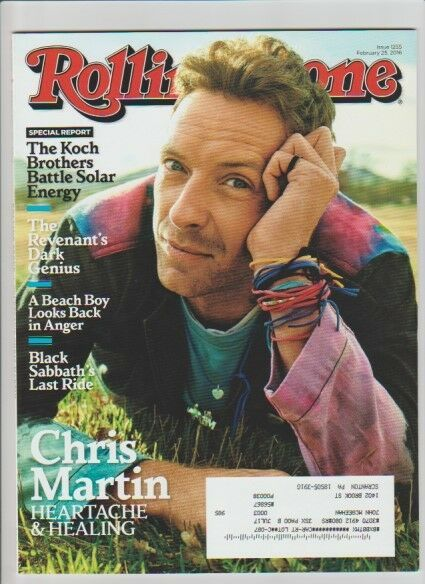 Rolling Stone Magazine Chris Martin Coldplay 2016