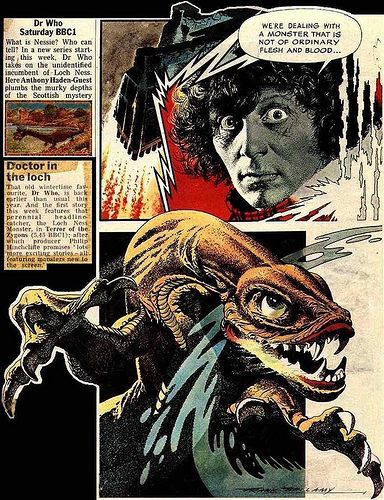 'Terror of the Zygons' by Frank Bellamy #doctorwho