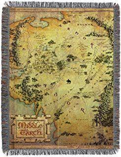 Amazon Com Ravenclaw Throw Blanket Karte Von Mittelerde