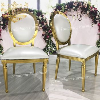 Withe Leather Seat Event Design Gold Rose Gold Stainless Steel Metal Dining Chair View Dining Chair T Stainless Steel Chair Metal Dining Chairs Steel Chair