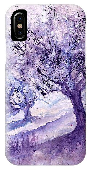 Winter Landscape early Morning IPhone X Case for Sale by Sabina ...