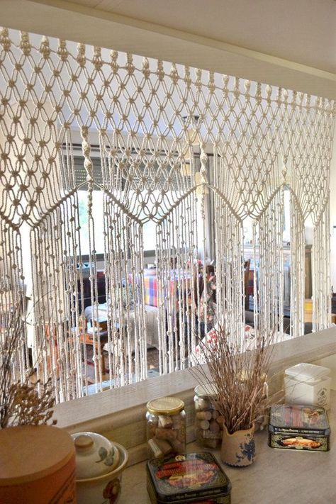 Bohemian macrame curtain / room divider / wall by Bohochoco