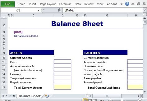 Simple Balance Sheet Maker Template for Excel Excel Templates - profit and loss forecast template