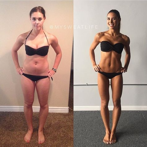 Body transformation before & after on BBG - Kelsey Wells - fitspo