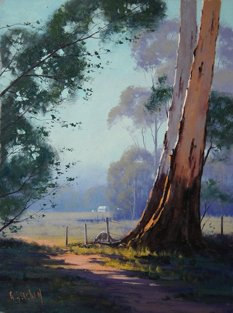 Kangaroo Grazing Landscape By Artsaus On Deviantart Graham Gercken Paisajes Pinturas De Paisajes Y Pinturas
