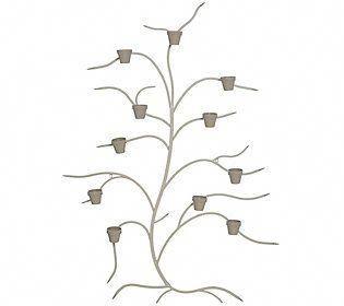 Martha Stewart 71 Metal Tree Wall Decor With Flower Pots Qvc