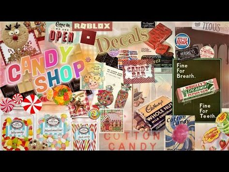 (3170) Decals Codes Candy Store  Gingerbread House   Decals Ids   Bloxburg ROBLOX - YouTube