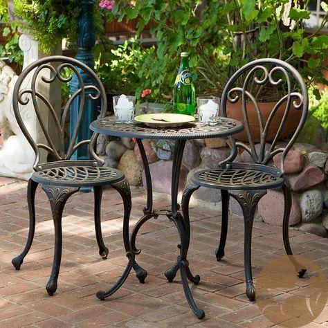 Schmiedeeisen Bistro Tisch Und Stuhle Eisen Gartenmobel Gartenmobel Sets Tisch Und Stuhle