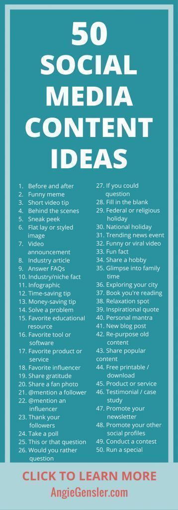 Get these 100 ideas of what to post on social media!