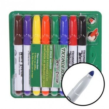 8 Ticonderoga Dry Erase Markers Low Odor Wipes Clean Dry Erase Markers Dry Erase Markers