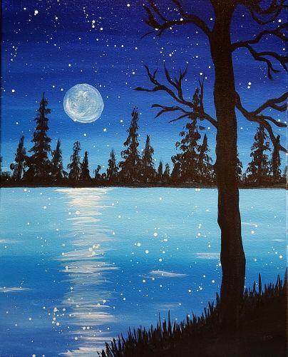 40 Acrylic Painting Ideas For Beginners Landscape Paintings Acrylic Beginner Painting Art Painting Acrylic