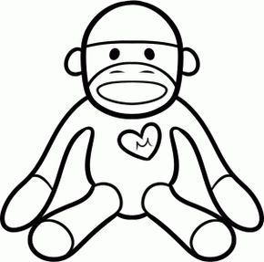 How To Draw A Sock Monkey Monkey Coloring Pages Monkey Drawing