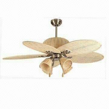 Rattan Fan With Bulb Cup Lights Unique Ceiling Fans Ceiling Fan Design Gold Ceiling Fan