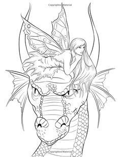 Pin by Ray on dragons | Fairy coloring pages, Dragon ...
