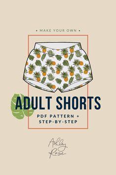 Adult Shorts Printable Pdf Pattern