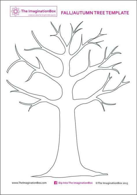 print this free tree template from the to create your own