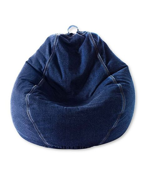 Denim Beanbag Chair - boys (or girls) would love having this in their bedroom; plus they can move it easily enough.  The denim will wear like buckskin too.
