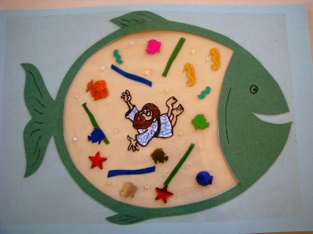 Jonah and the Whale Craft- great interaction activity at Sunday School.