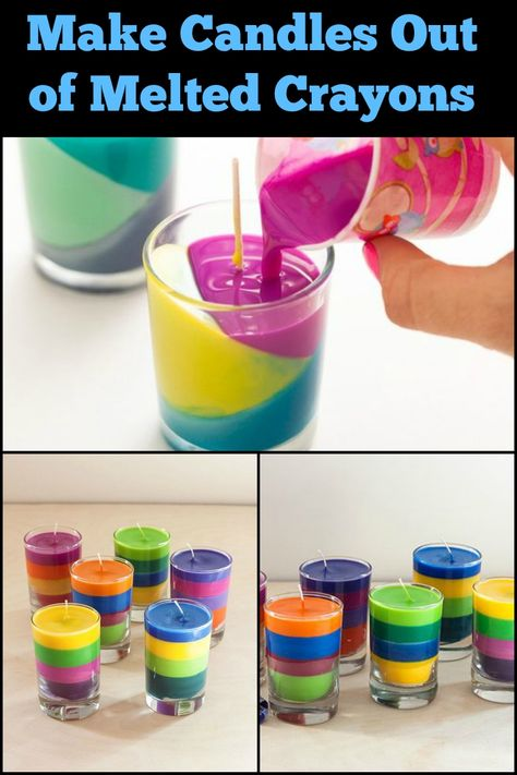 How to make candles out of your child's broken crayons, # out of # crayons Informations About Wie man aus den zerbrochenen Buntstiften Ihres Kindes Kerzen macht Pin You can easily Diy Crafts For Kids, Easy Crafts, Diy Projects Fun, Crafts To Make And Sell Unique, Craft Ideas, Handmade Crafts, Diy Candles With Crayons, Crafts With Crayons, Old Crayon Crafts