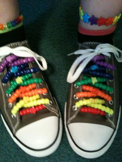 by - Kandi Photos on Kandi Patterns -- for Anna Kandi Patterns, Beading Patterns, Rave Bracelets, Beaded Bracelets, Estilo Indie, Rave Gear, Scene Kids, Electric Daisy Carnival, Aesthetic Shoes