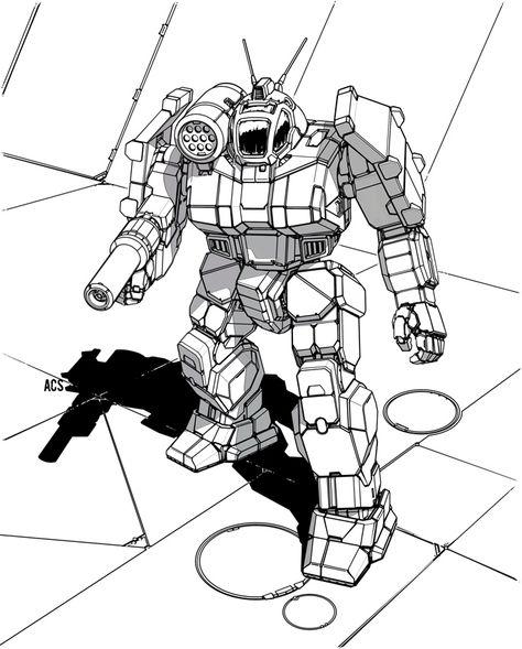 Battletech Griffin By Shimmering Sword Mech Griffin Digital Artist