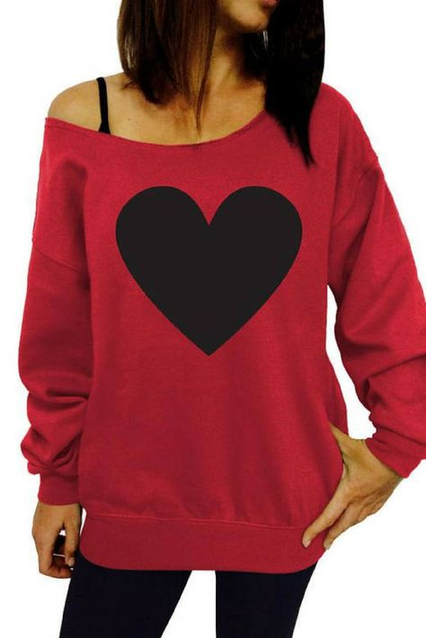 Off The Shoulder Slouchy Sweater Sweatshirt Gift For Her