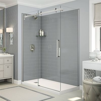 Maax Shower Stalls Enclosure Utile Corner Shower In Metro Ash