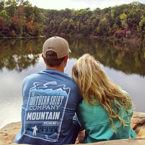 Be comfy, no matter where life takes you. NEW Mountain Weekend shirt available tomorrow! Cute Country Couples, Country Couple Pictures, Cute Country Boys, Cute Couple Pictures, Cute Couples Goals, Country Prom, Country Dates, Couple Pics, Country Relationships