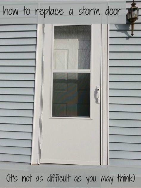 How To Replace A Storm Door My Repurposed Life Rescue Re Imagine Repeat Storm Door Installation Storm Door Doors