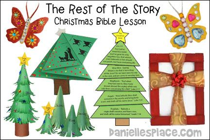 Christmas Story For Preschoolers.Christmas Story Tree Bible Lesson The Rest Of The Story