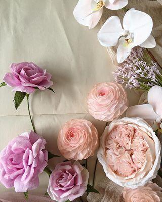 Diy Crepe Paper English Rose Paper Flower Tutorial Paper