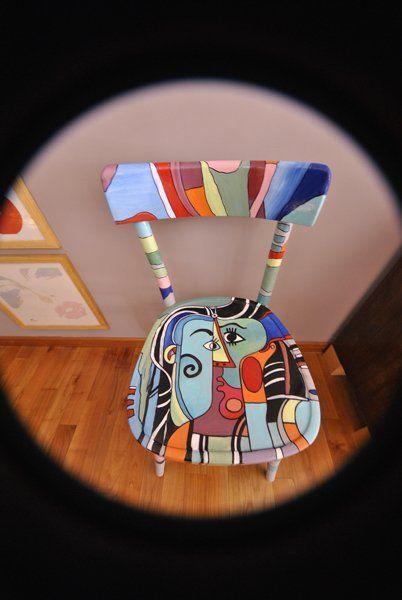 Gli artigiani di mobili a colori possono personalizzare qualsiasi tipo di mobile: Lavori Mobili Dipinti In Stile Funky Art Furniture Idee Progettuali
